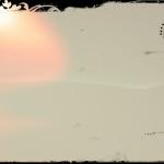 A dawn in a white erial