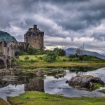 A eerie castle in the highlands
