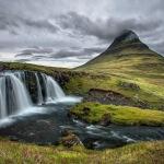Cloudy prairies in Iceland