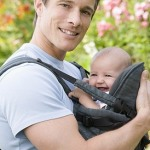 Funny photo of a father with his smiling son