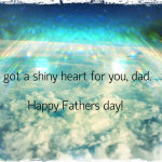 Shiny heart for dad