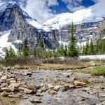 Rocky iced landscape