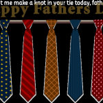 Let me make a knot in your tie today, father