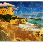 Castle of Tamarit in Tarragona, Spain