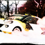 Opel car in a snow competition
