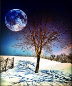 The moon always watch for us in the dreams
