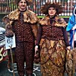 Disfraz de Carnaval hecho con castañas