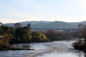 Rio Miño y puentes de Ourense