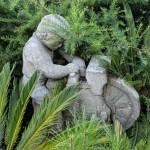 Afilador piedra jardín casa ourense