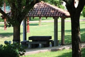 Pérgola parque Miño Ourense verano