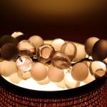 Uvas de cristal de Murano al contraluz