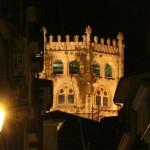Catedral Ourense vista nocturna desde Plaza do Ferro