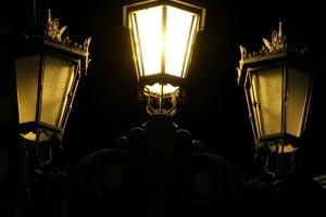 Farolas Oviedo noche