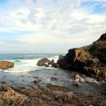 Mar Cantábrico en Tapia de Casariego Asturias paraíso natural cielo con nubes