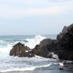 Mar Cantábrico olas acantilado en Tapia de Casariego Asturias paraíso natural