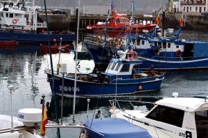Barco puerto Luarca Asturias