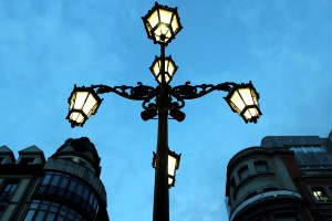 Oviedo farola noche Asturias