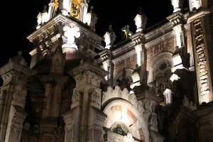 San Juan el Real Vista nocturna Oviedo