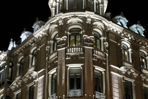 Iluminación nocturna edificio Oviedo