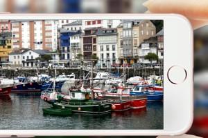 Fotografiando con mi smartphone el puerto de Luarca Asturias