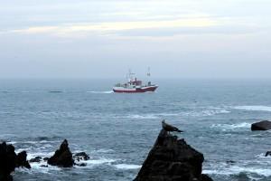 Barco pesca costa Asturias