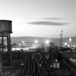 Estación de tren de Ourense en blanco y negro