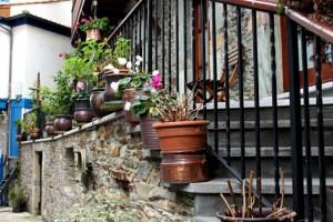 Casona antigua típica en Cudillero Asturias