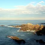 Costa y rocas del cantábrico en Asturias