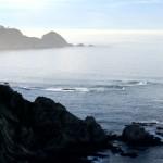 Atardecer en la costa de Cudillero en Asturias