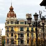 Fachada edificio plaza Porlier Oviedo Asturias