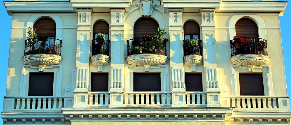 Balcones en Madrid Plaza de Santa Ana