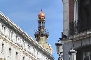 Calle Sevilla desde plaza de Canalejas Madrid