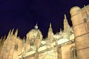 Catedral de Salamanca vista nocturna