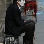 Charlot clown Plaza Mayor Madrid