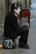 Charlot clown Plaza Mayor Madrid