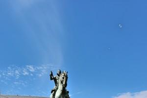 Estatua Felipe III plaza Mayor Madrid