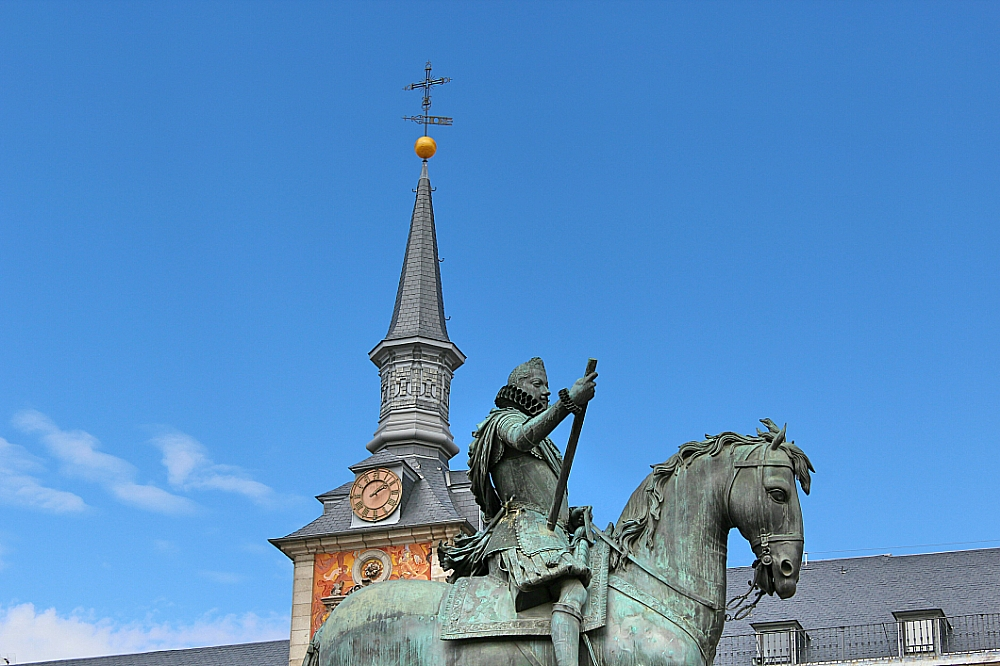 Felipe III plaza Mayor estatua Madrid