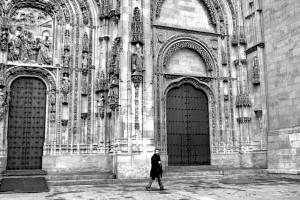 Invierno en Salamanca junto a la Catedral