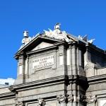 Detalle de la Puerta de Alcalá en Madrid