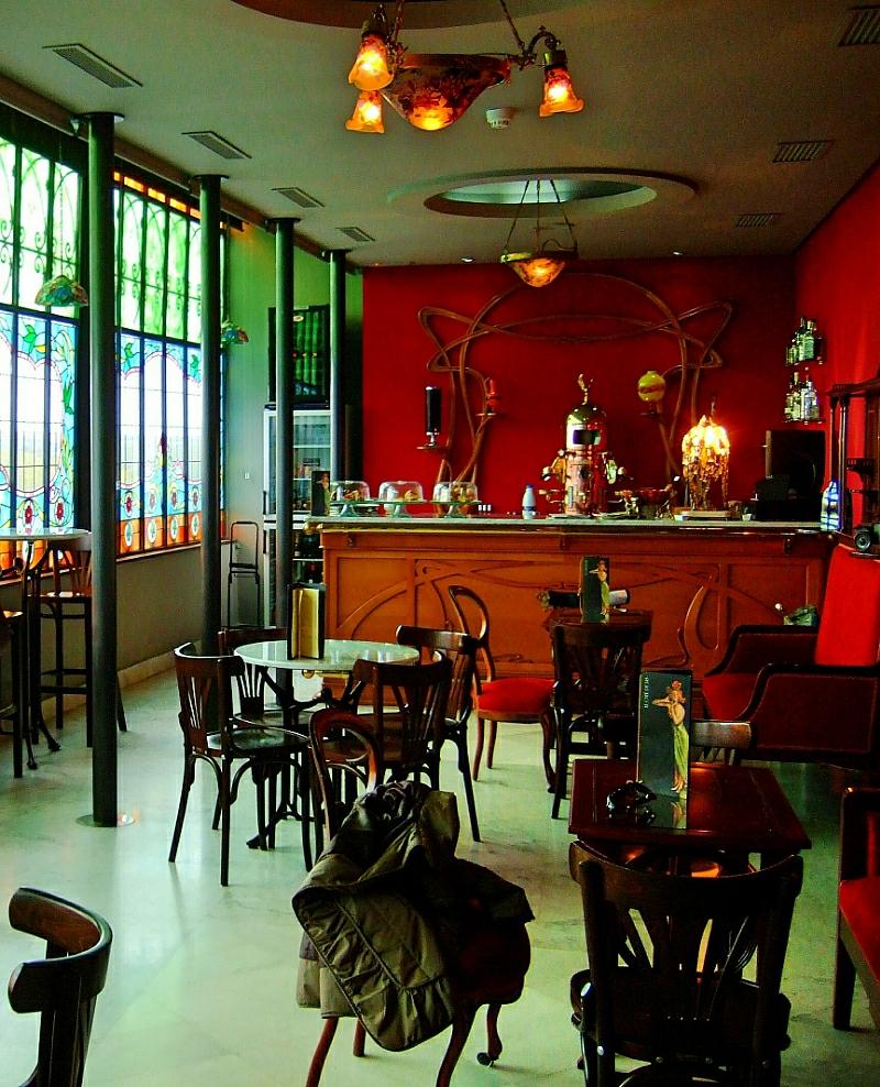 Art Nouveau Art Decó cafetería