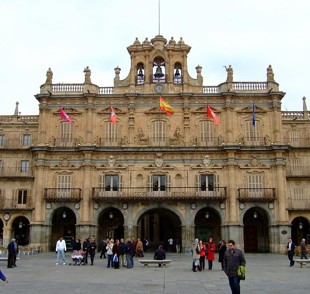 Ayuntamiento fachada plaza Mayor Salamanca