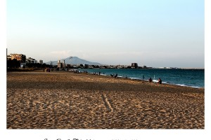 Benicarló desde la playa de Peñíscola Foto Manuel Ramallo