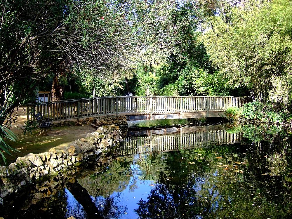 Estanque del parque de María Luisa en Sevilla Andalucía