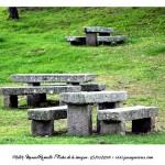 Mesas y bancos de piedra Virgen de la Roca Baiona Fotografía Manuel Ramallo