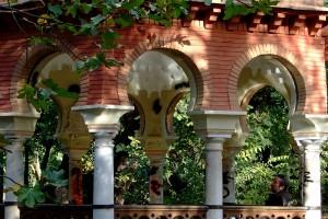 Parque María Luisa Sevilla estanque templete