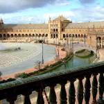 Plaza de España Sevilla Andalucia Vista Parcial