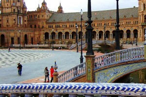 Plaza de España en Sevilla Andalucía