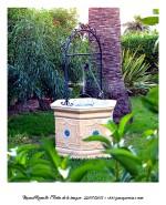 Pozo artesano en jardín en Peñíscola - Foto Manuel Ramallo