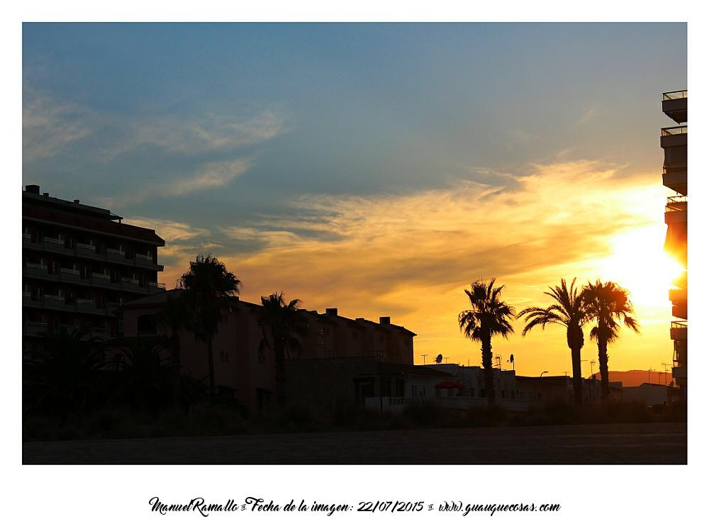 Puesta de sol en Peñíscola - Foto Manuel Ramallo