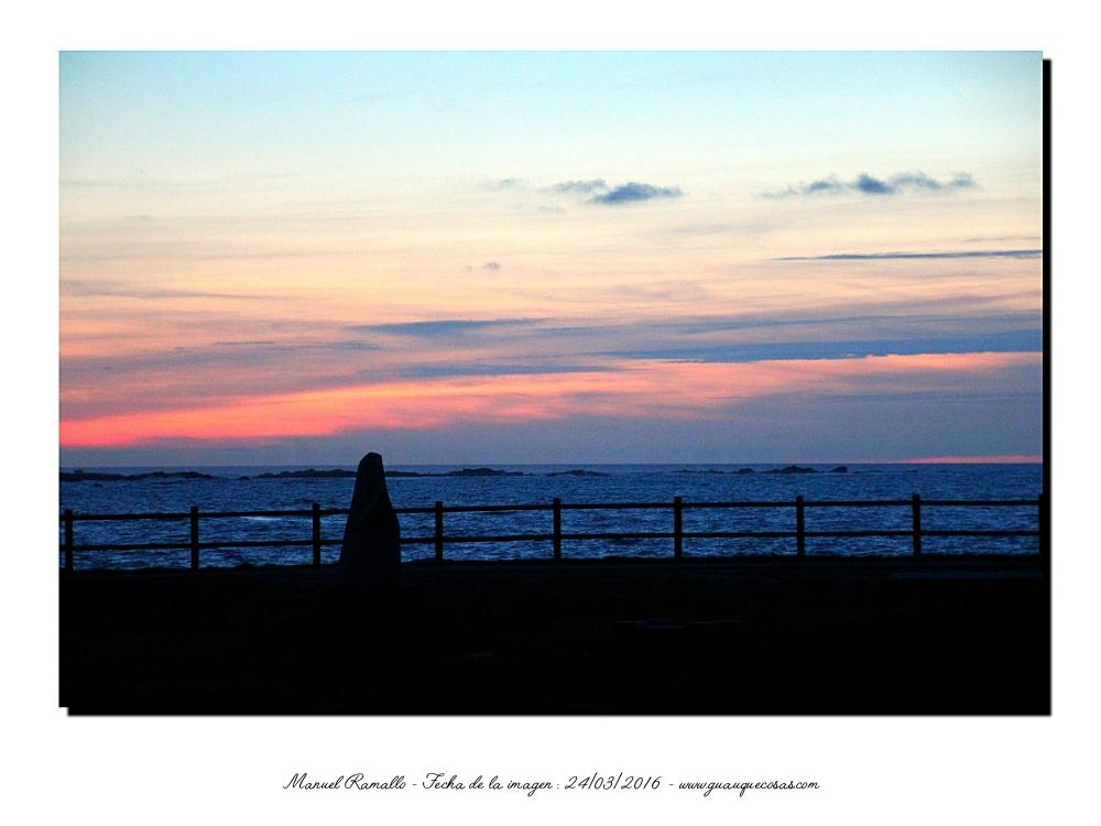Atardecer en el mar Baiona Pontevedra - Imagen: Manuel Ramallo